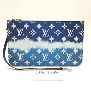 Like New Neverfull Pouch LV Escale Blue